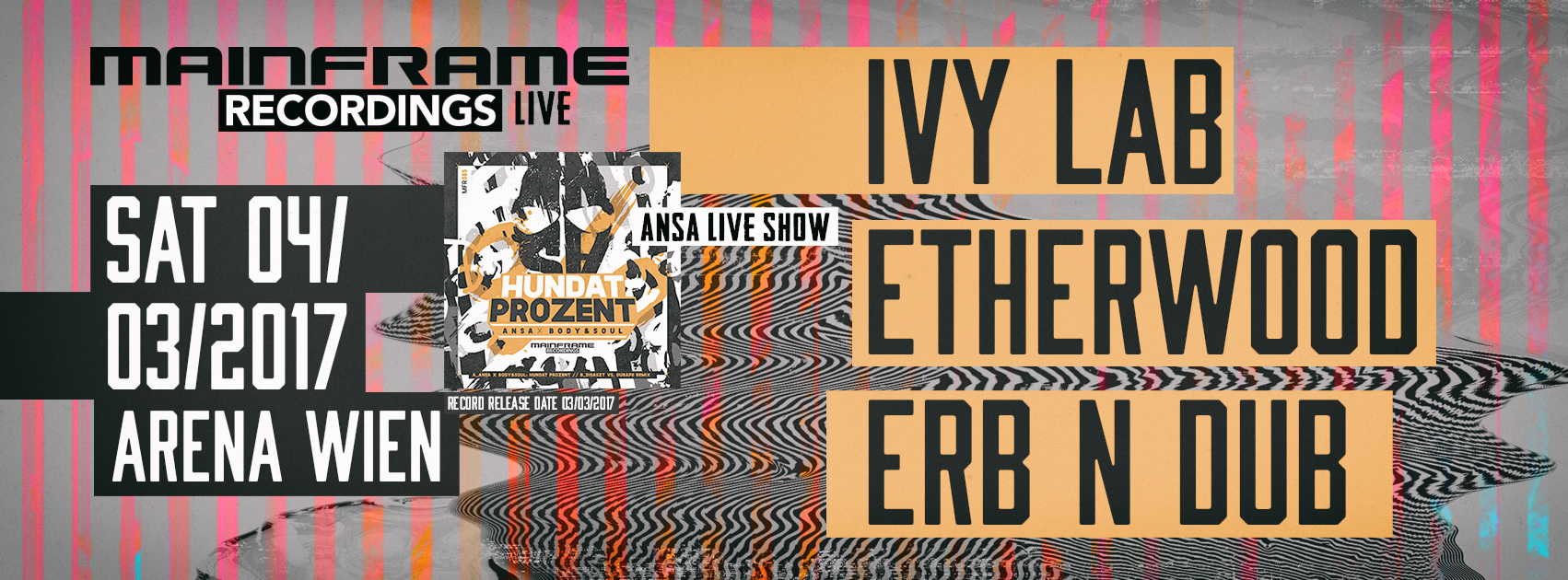 Mainframe Recordings Live 04.03.2017 – Tickets are available!