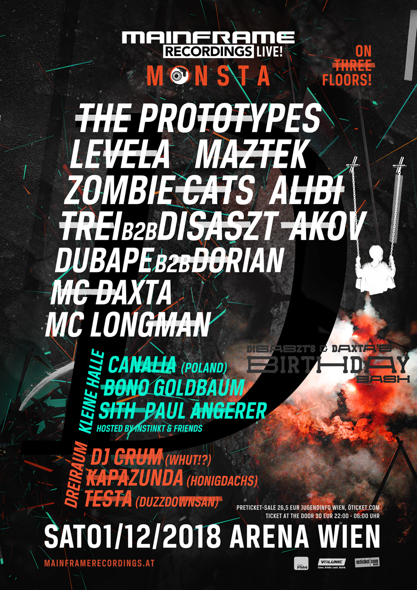 MAINFRAME RECORDINGS LIVE MONSTA  DISASZT & DAXTA´s BIRTHDAY BASH