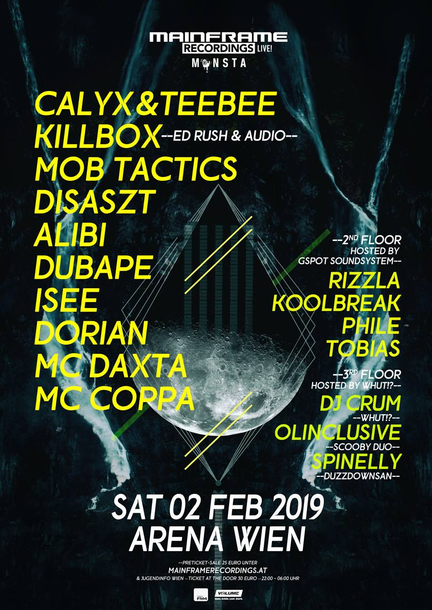 Mainframe Recordings LIVE Monsta Edition – 02/02/2019 ARENA Wien