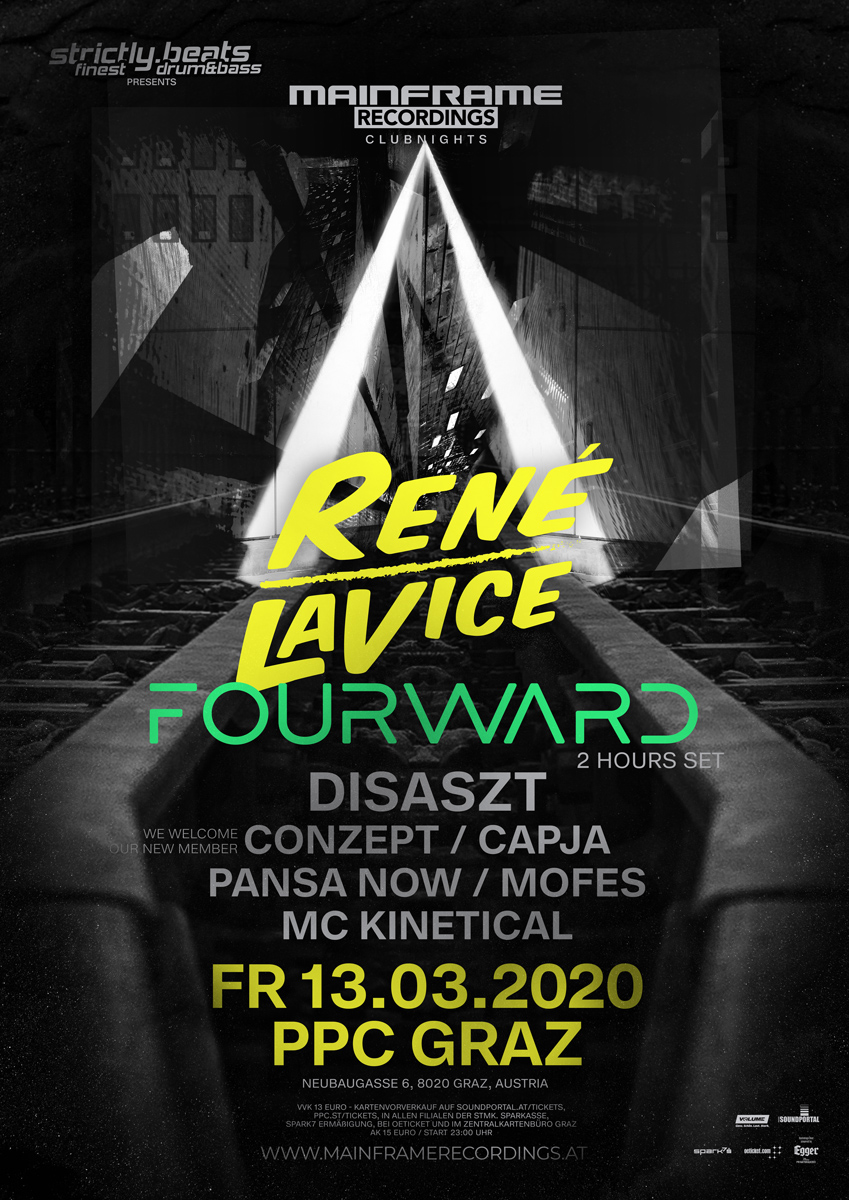 13/03/2020 // STRICTLY.BEATS pres. MAINFRAME RECORDINGS CLUBNIGHT feat. RENE LAVICE & FOURWARD // PPC, Graz